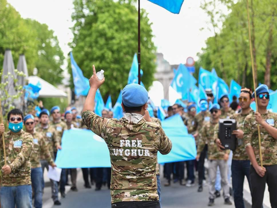 Uighurs protest