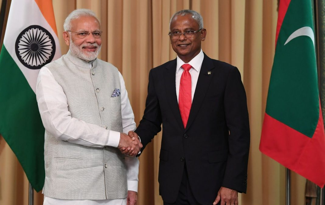 President Ibrahim Mohamed Solih and PM Modi