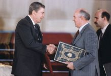 President Reagan and Soviet General Secretary Gorbachev