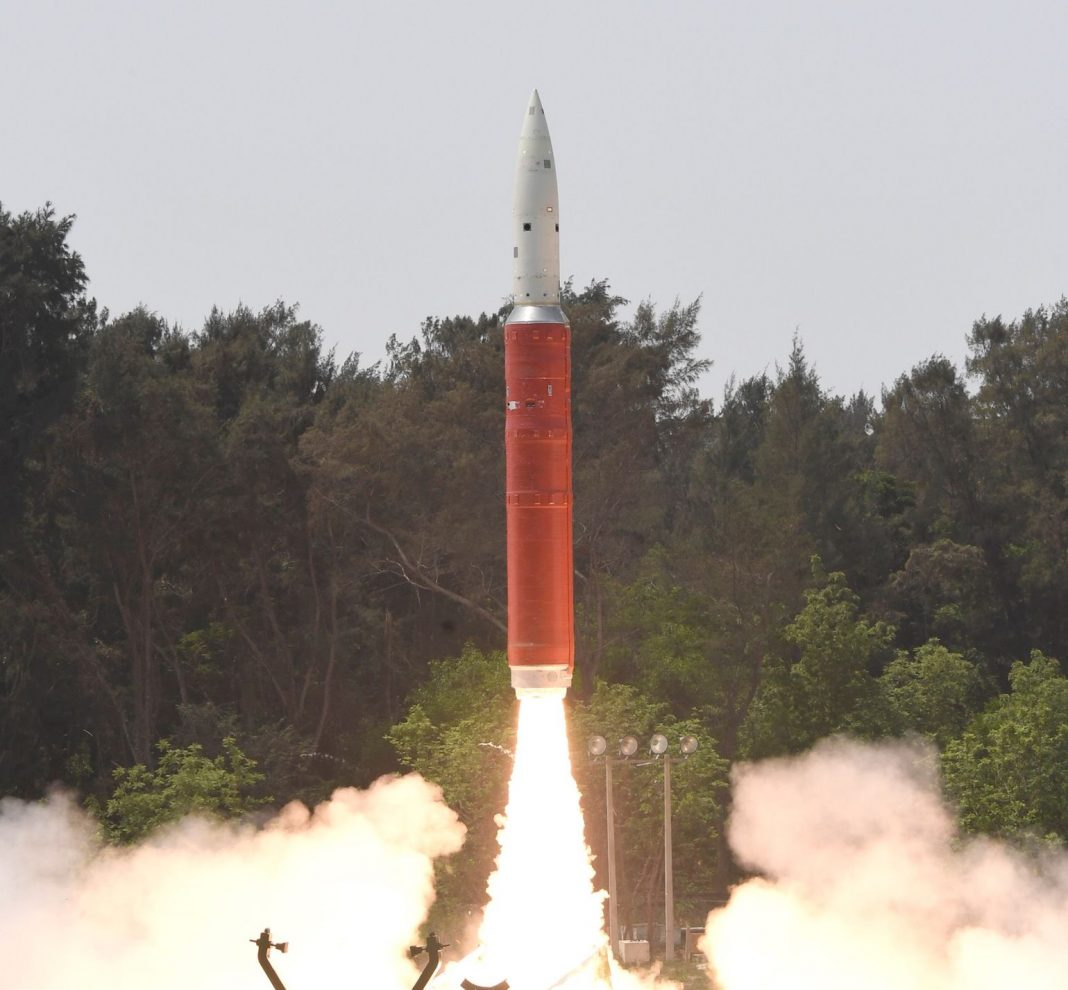 Launch of DRDO's Ballistic Missile Defence interceptor missile for an ASAT test