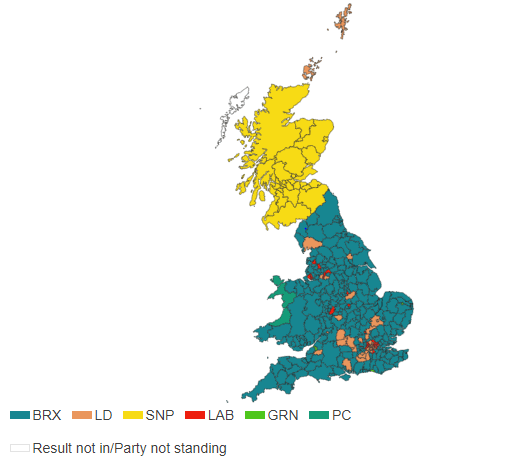 European Election 2019, UK results