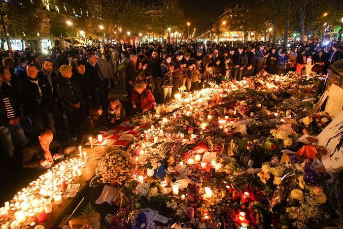 In remembrance of November 2015 Paris attacks victims