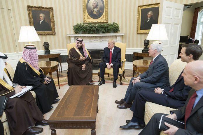 Donald Trump meets and Mohammed bin Salman