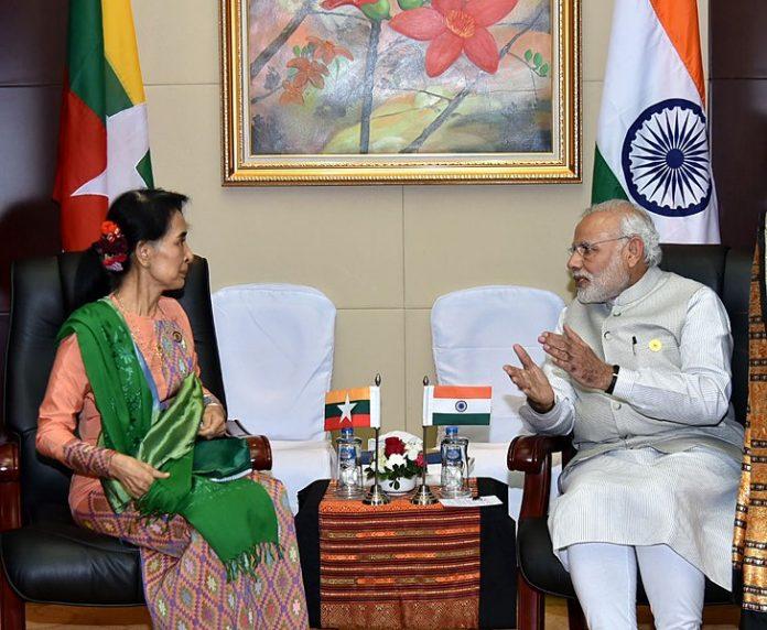 PM Narendra Modi and Suu Kyi
