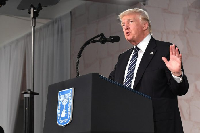 President Donald Trump in Israel