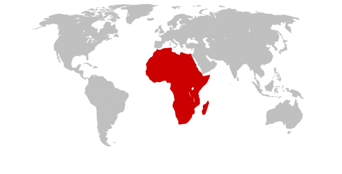 location map of Africa map