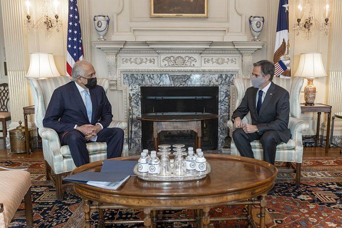 Secretary Blinken Meets with Ambassador Khalilzad