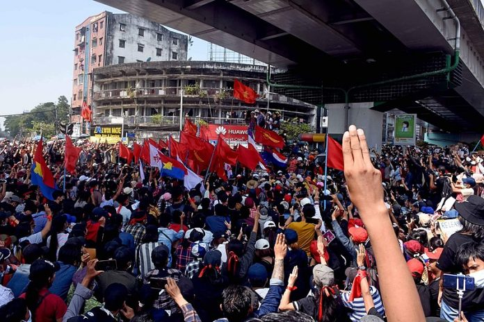 Anti-Coup Rally in Myanmar