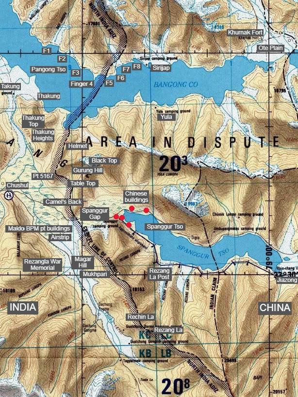 Ladakh LAC Pangong Tso Spanggur Tso Landmarks