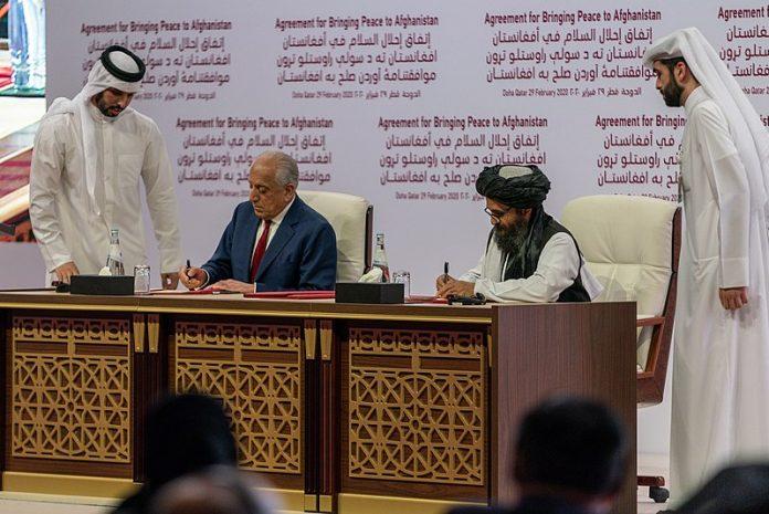 Secretary Pompeo Participates in a Signing Ceremony in Doha