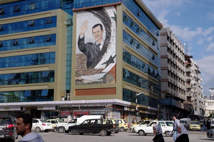 Bashar al-Assad mural in Latakia