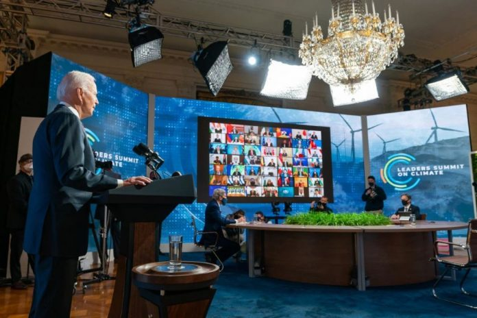 President Biden Addressing Leaders Climate Summit