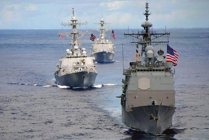 USS Pickney, Princeton and John C Stennis