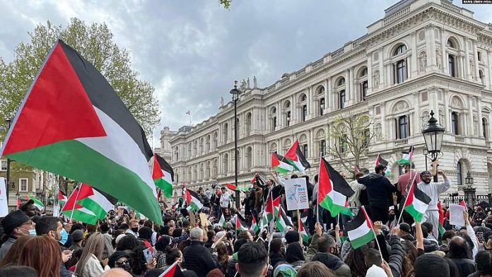 Downing Street pro-Palestinian demonstration