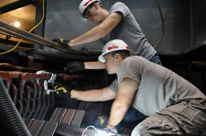 Electricians at Wolf Creek Power Plant complete fix on a differential