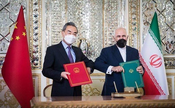 Zarif and Wang Yi Signing 25-year agreement