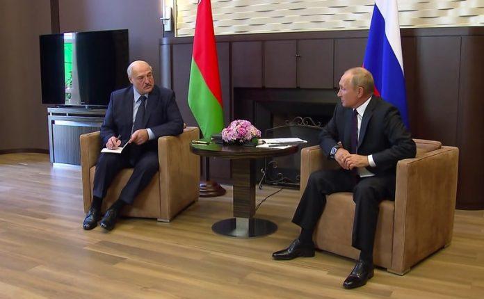 President Vladimir Putin and Alexander Lukashenko