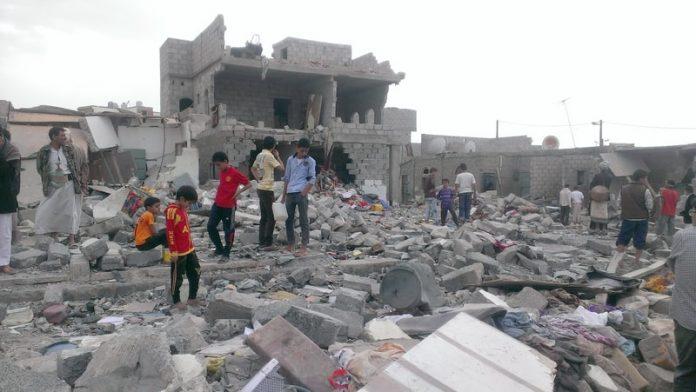 Damaged Building in Yemen